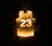 Basketball jersey 23 in sparks Stock Photos
