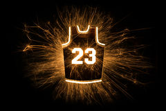 Basketball jersey 23 in sparks Stock Image