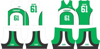 Free Basketball Jersey Uniforms Pattern Design Templates  Front And Back View Illustration Royalty Free Stock Images - 197102929