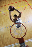 Basketball jump royalty free stock photography