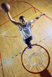 Basketball jump Royalty Free Stock Photos