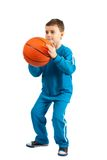 Basketball kid Royalty Free Stock Image