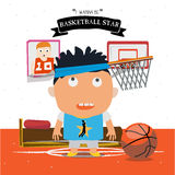 Basketball kid character  Stock Image