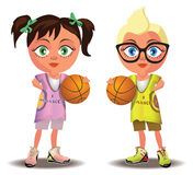 Basketball kids Stock Photography