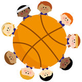 Basketball and kids team Royalty Free Stock Photo
