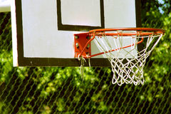 Basketball-Korb stockbild