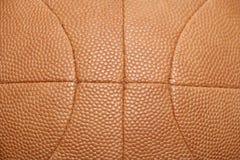 Basketball-Kugelhintergrund der Weinlese lederner Stockfoto
