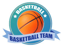 Basketball label Royalty Free Stock Image