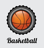 Basketball label Stock Image