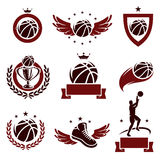 Basketball labels and icons set. Vector. Basketball labels and icons set Royalty Free Stock Photo