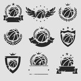 Basketball labels and icons set. Vector Stock Images