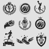 Basketball labels and icons set. Vector Stock Photography