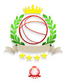 Basketball laurel wreath Stock Image