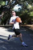 Basketball Layup at an Outdoor Court Royalty Free Stock Photo