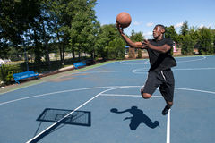 Basketball Layup Stock Image