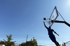 Basketball Layup Silhouette Royalty Free Stock Photo