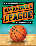 Basketball League Flyer Illustration Stock Photo