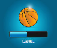 Basketball loading bar illustration design Royalty Free Stock Photography