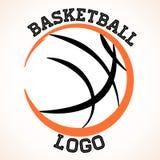 Basketball logo. Vector basketball team logo on white background Stock Photos