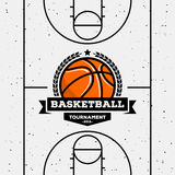Basketball. Logo with the ball. Suitable for tournaments, championships, leagues. Vector design template Royalty Free Stock Photography