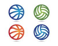 Basketball logo icon. Basketball logo vector icon template Stock Images
