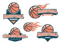 Basketball logo set vector – stock illustration. Basketball logo set– stock illustration Royalty Free Stock Photo