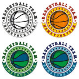 Basketball logo set Royalty Free Stock Photography