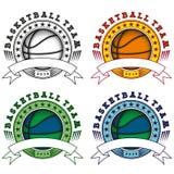 Basketball logo set Stock Images