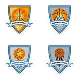 Basketball logo for the team and the cup Royalty Free Stock Photos