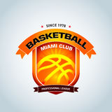 Basketball logo template, basketball logotype, badge logo design template, sport logotype template. Royalty Free Stock Photography