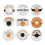 Basketball logos in linear style Stock Photos