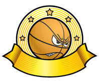 Basketball logotype Royalty Free Stock Images