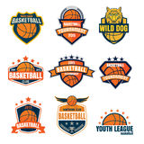Basketball logotype collection ,sport badge set Royalty Free Stock Photography