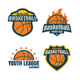 Basketball logotype , collectionsport badge set, vector illustra Royalty Free Stock Image