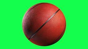 Basketball. Loop seamless, isolated on green screen vector illustration
