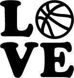 Basketball love with ball Stock Images
