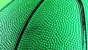 Basketball Macro View. Game Sport Concept stock footage