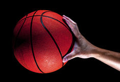 Basketball and Male hand Royalty Free Stock Photo