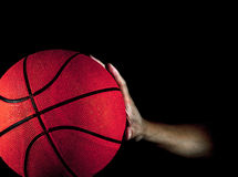Basketball and Male hand Stock Photography