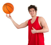 Basketball man Stock Photography