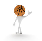 Basketball man 3D. Welcome world vector illustration