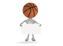 Basketball man 3D namecard Royalty Free Stock Images