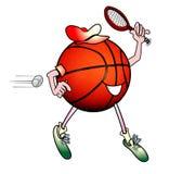 Basketball man playing tennis Stock Photos