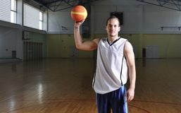 Basketball man portrait Stock Images