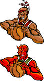 Basketball Mascots Indian and devil Stock Image