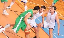 BASKETBALL MATCH. Zdar nad Sazavou, Czech republic - January 24: Basketball match between Zdar nad Sazavou and Sumperk. Final Score for Zdar 70:62 Stock Photography