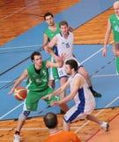 BASKETBALL MATCH. Zdar nad Sazavou, Czech republic - January 24: Basketball match between Zdar nad Sazavou and Sumperk. Final Score for Zdar 70:62 Royalty Free Stock Image
