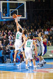 Basketball match. BARCELONA - MARCH 24: Some players in action during the Euroleague basketball match between FC Barcelona and Panathinaikos, final score 71-75 Royalty Free Stock Photo