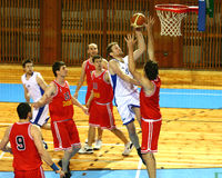Basketball match Royalty Free Stock Images