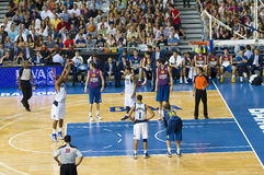 Basketball match Barcelona vs Dallas Royalty Free Stock Photo
